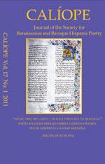 Caliope Vol 17 No 1 cover